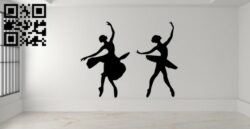 Ballet wall decor E0015022 file cdr and dxf free vector download for laser cut plasma