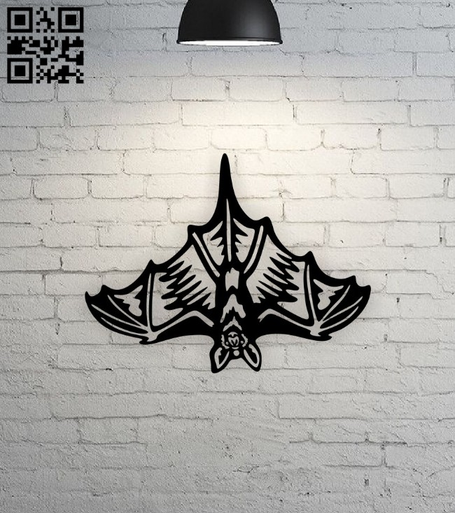 Bat E0015017 file cdr and dxf free vector download for laser cut plasma