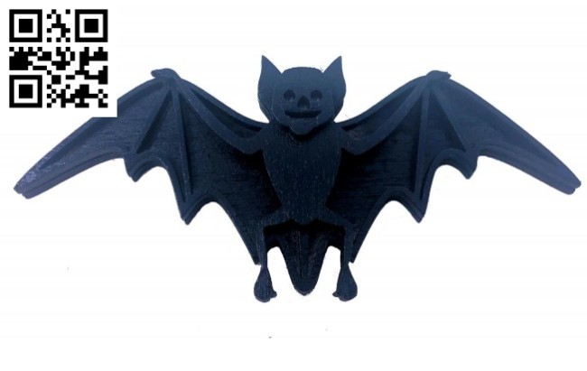 Bat E0015037 file cdr and dxf free vector download for laser cut
