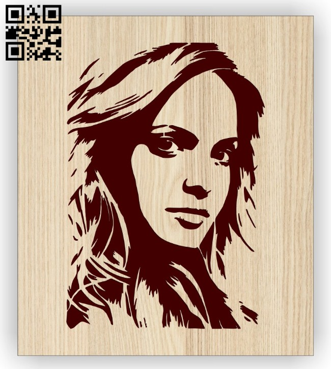 Beautiful girl E0014882 file cdr and dxf free vector download for laser engraving machine