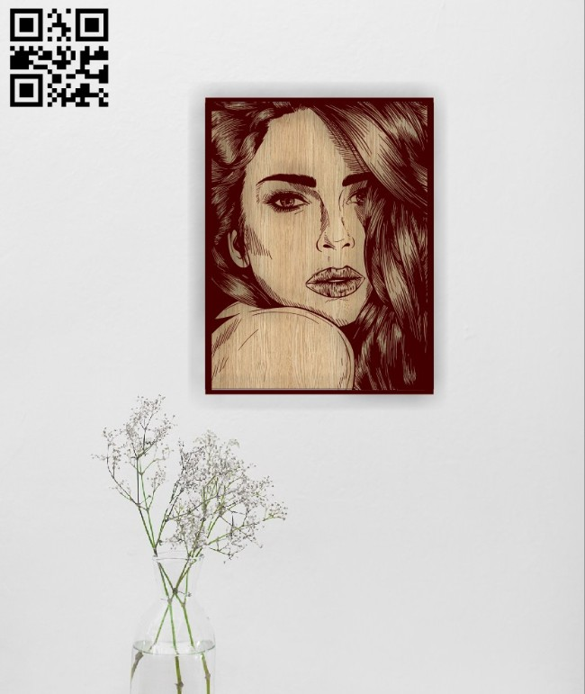 Beautiful girl E0014925 file cdr and dxf free vector download for laser engraving machine