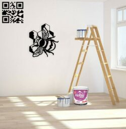Bee E0014924 file cdr and dxf free vector download for laser cut plasma