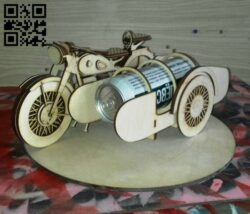 Beer motorbike E0014949 file cdr and dxf free vector download for laser cut