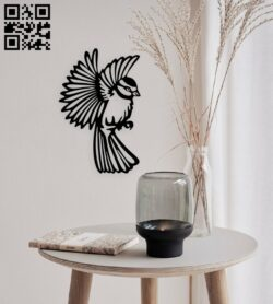Bird wall decor E0015018 file cdr and dxf free vector download for laser cut plasma