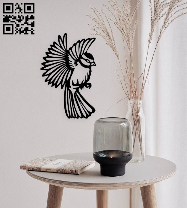 Bird E0015018 file cdr and dxf free vector download for laser cut plasma