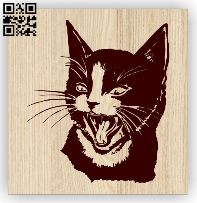 Black cat E0014883 file cdr and dxf free vector download for laser engraving machine