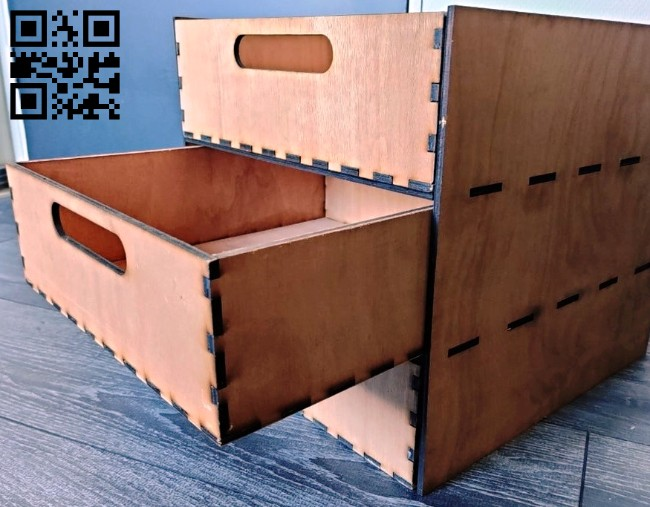 Box with drawers E0014866 file cdr and dxf free vector download for laser cut