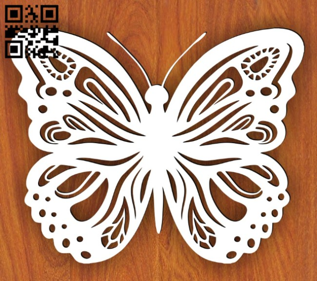 Butterfly E0014947 file cdr and dxf free vector download for laser cut plasma