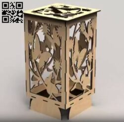 Butterfly lamp E0015034 file cdr and dxf free vector download for laser cut