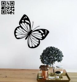 Butterfly wall decor E0014888 file cdr and dxf free vector download for laser cut plasma