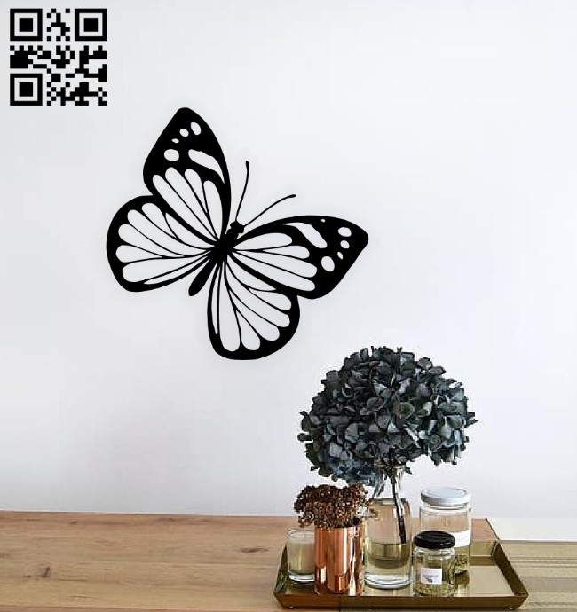 Buttserfly wall decor E0014888 file cdr and dxf free vector download for laser cut plasma