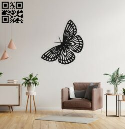 Butterfly wall decor E0014956 file cdr and dxf free vector download for laser cut plasma