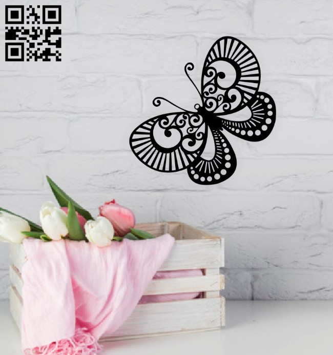Butterfly wall decor E0015056 file cdr and dxf free vector download for laser cut plasma