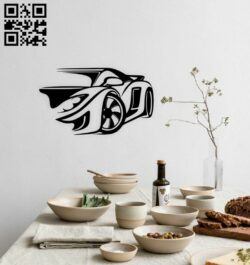 Car wall decor E0014886 file cdr and dxf free vector download for laser cut plasma