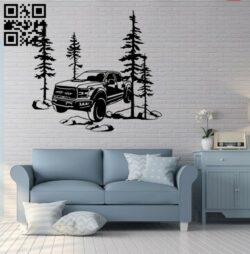 Car wall decor E0014912 file cdr and dxf free vector download for laser cut plasma