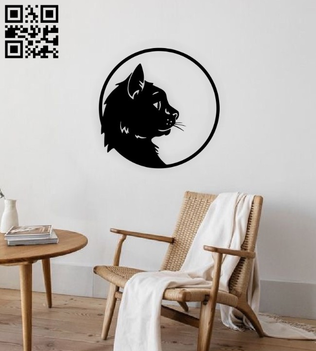Cat wall decor E0015082 file cdr and dxf free vector download for laser cut plasma