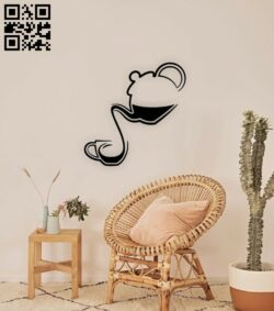 Ceremony teapot wall decor E0015060 file cdr and dxf free vector download for laser cut plasma