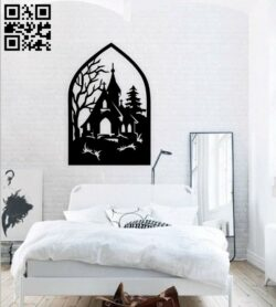 Church wall decor E0014965 file cdr and dxf free vector download for laser cut plasma