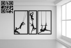 Circus wall decor E0014955 file cdr and dxf free vector download for laser cut plasma