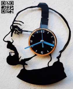 Clock headset E0014934 file cdr and dxf free vector download for laser cut
