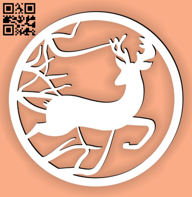 Deer E0014987 file cdr and dxf free vector download for laser cut plasma