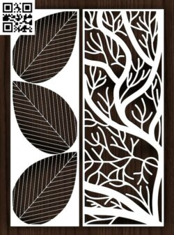 Design pattern screen panel E0015010 file cdr and dxf free vector download for laser cut