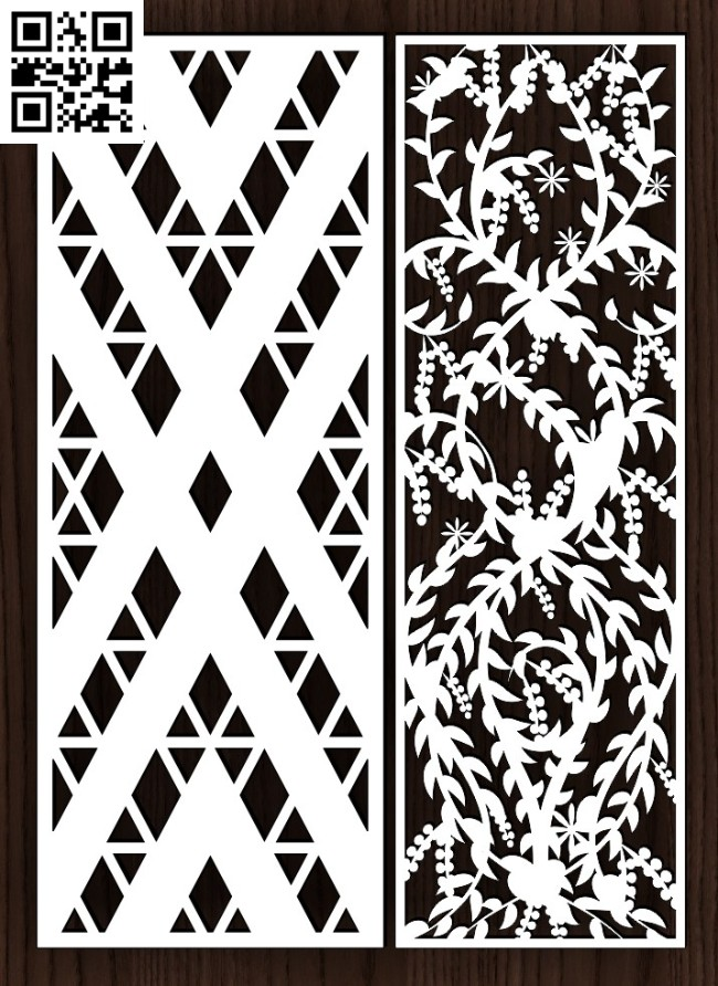 Design pattern screen panel E0015011 file cdr and dxf free vector download for laser cut