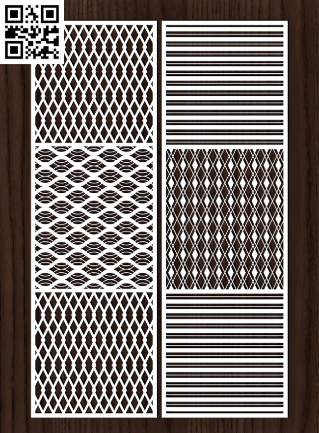 Design pattern screen panel E0015012 file cdr and dxf free vector download for laser cut cnc