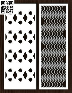 Design pattern screen panel E0015013 file cdr and dxf free vector download for laser cut cnc