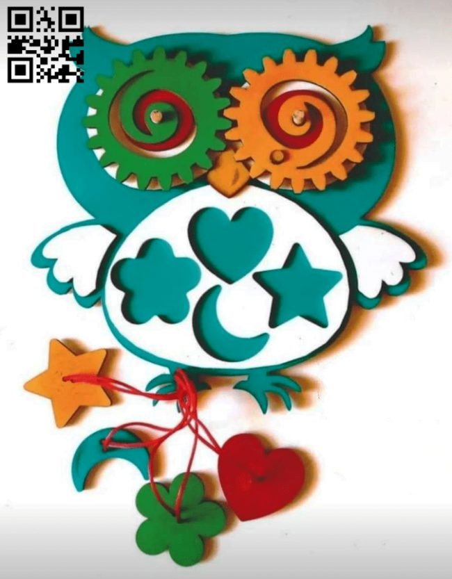 Didactic children's owl E0014937 file cdr and dxf free vector download for laser cut