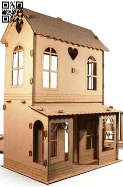 Doll house E0014936 file cdr and dxf free vector download for laser cut