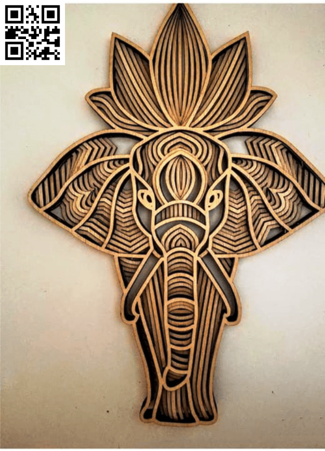 Elephant E0014903 file cdr and dxf free vector download for laser cut