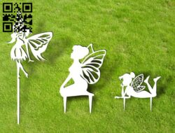 Fairy garden decor E0014999 file cdr and dxf free vector download for laser cut plasma