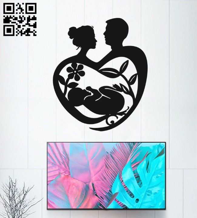 Family love E0014919 file cdr and dxf free vector download for laser cut plasma