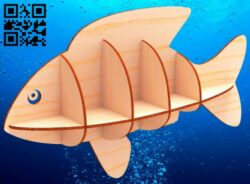Fish shelf E0015078 file cdr and dxf free vector download for laser cut