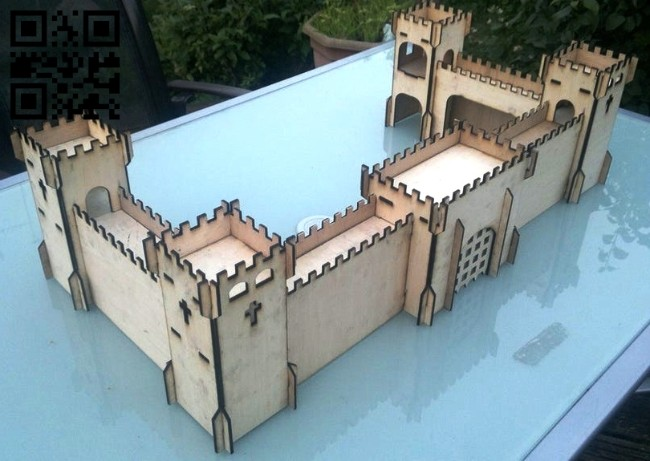 Fortress E0014878 file cdr and dxf free vector download for laser cut