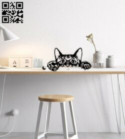 Funny cat E0015025 file cdr and dxf free vector download for laser cut plasma