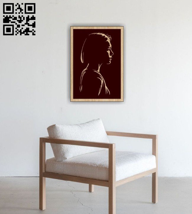 Girl E0014977 file cdr and dxf free vector download for laser engraving machine