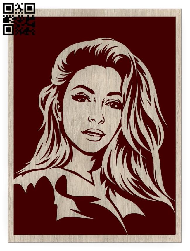 Girl E0014997 file cdr and dxf free vector download for laser engraving machine