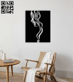 Girl wall decor E0015041 file cdr and dxf free vector download for laser cut plasma