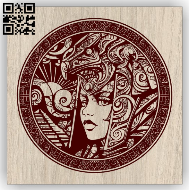 Goddess E0014996 file cdr and dxf free vector download for laser engraving machine
