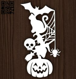 Halloween E0014952 file cdr and dxf free vector download for laser cut plasma