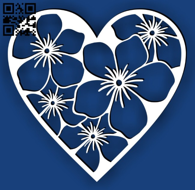 Heart E0015044 file cdr and dxf free vector download for laser cut plasma