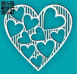 Heart E0015046 file cdr and dxf free vector download for laser cut
