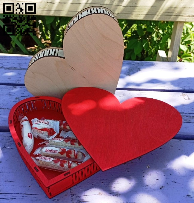 Heart box E0014932 file cdr and dxf free vector download for laser cut