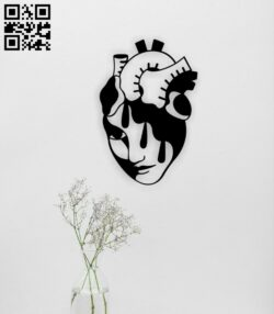 Heart women face E0015014 file cdr and dxf free vector download for laser cut plasma