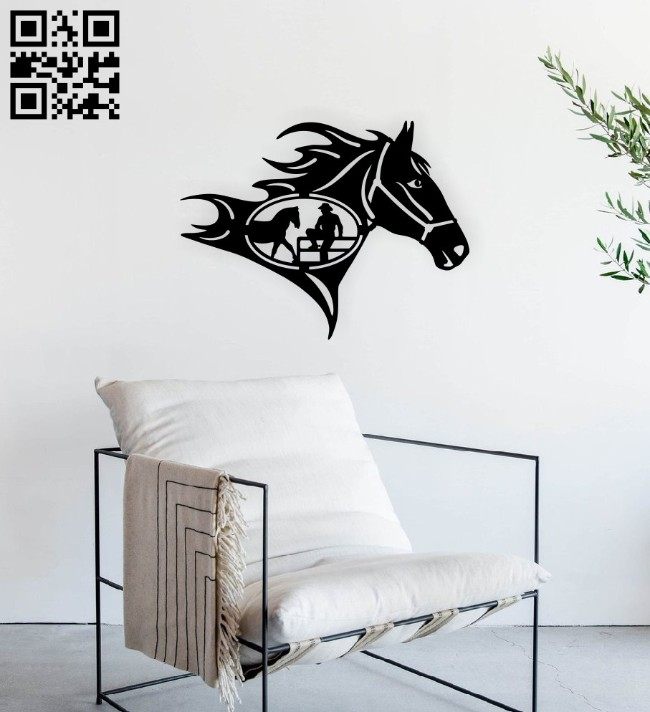 Horse head E0014967 file cdr and dxf free vector download for laser cut plasma