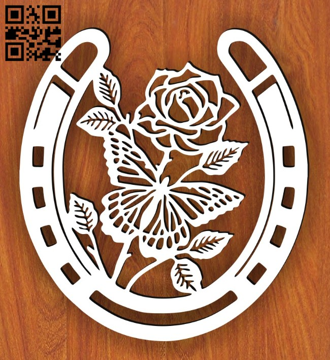 Horseshoe E0014957 file cdr and dxf free vector download for laser cut plasma