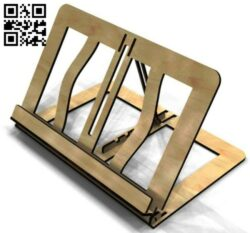 Ipad stand E0015008 file cdr and dxf free vector download for laser cut