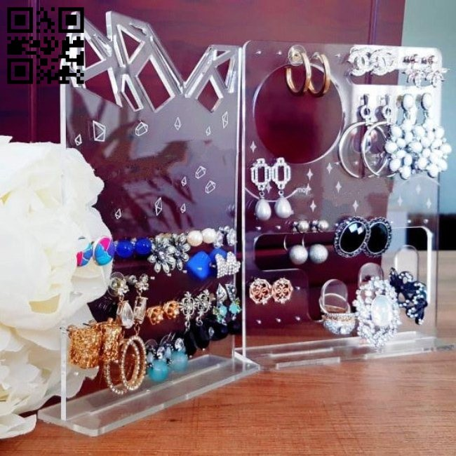 Jewelry stand E0014948 file cdr and dxf free vector download for laser cut